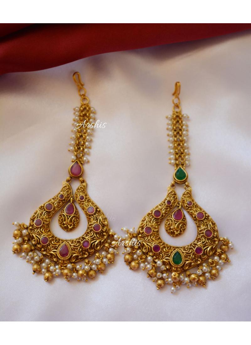 Beautiful Bridal Wear Pearl Tikka