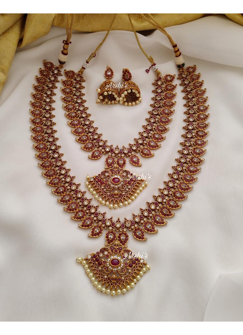 Bridal Heavy Real Kemp Jewellery Se..