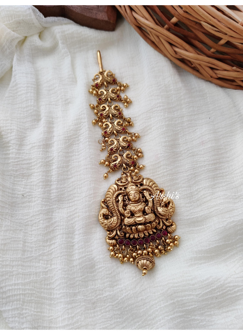 Beautiful Gold Replica Lakshmi Tikk..
