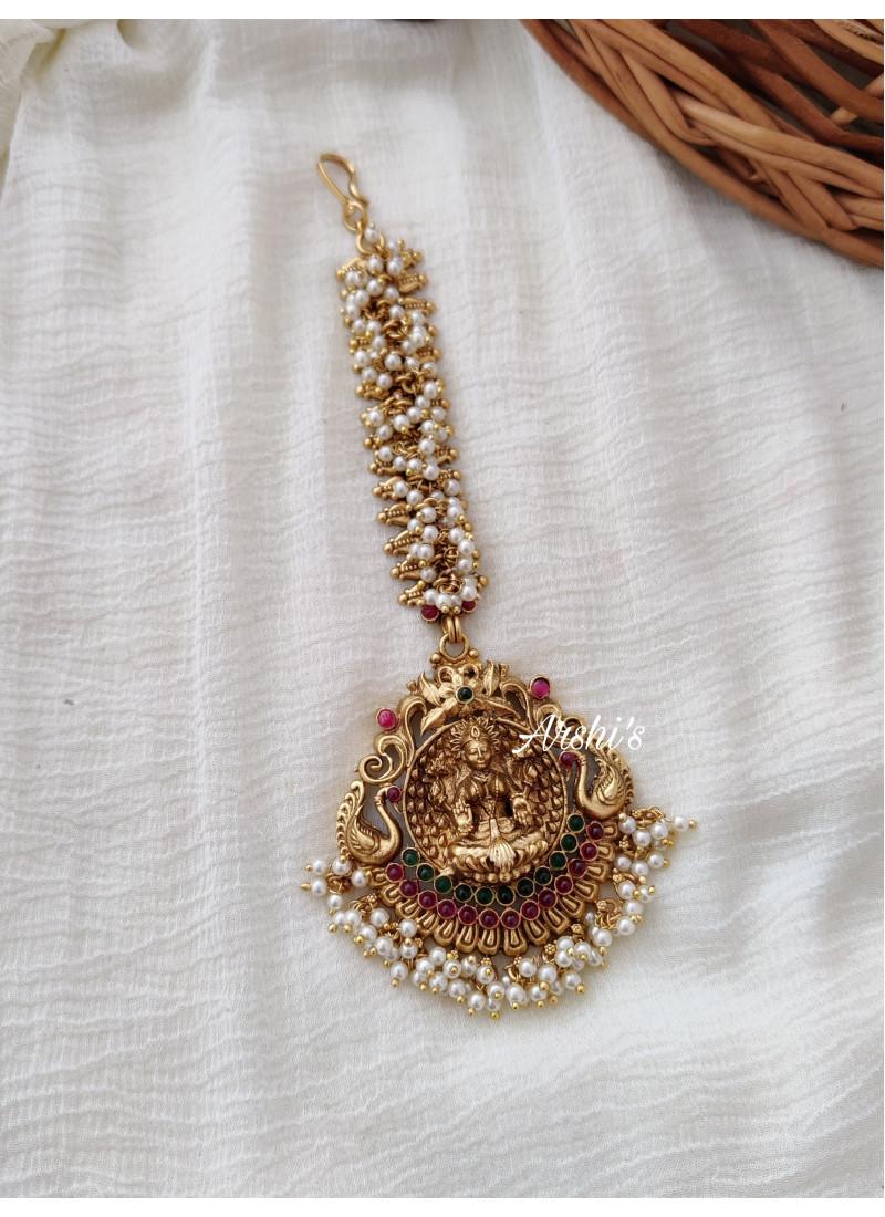 Beautiful Lakshmi Pearl Bridal Tikk..