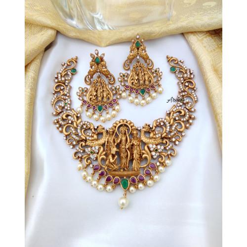Matte AD Ramparivar Necklace