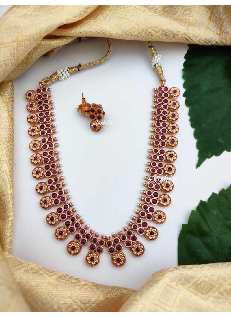 Pure Kemp Flower Matte Necklace