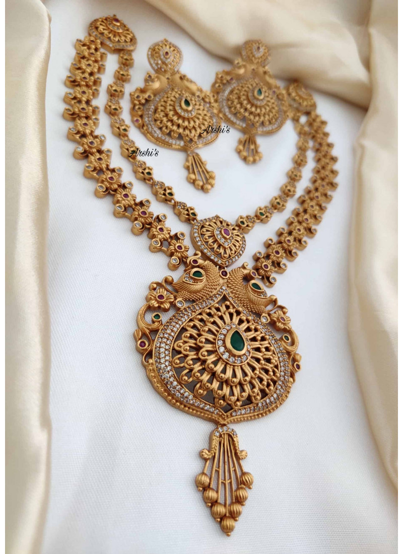 Imitation Two Layer Peacock Necklace