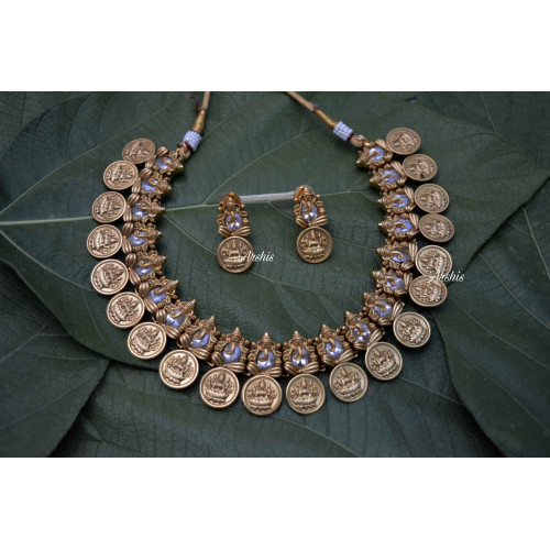 Trendy Ganesha with Lakshmi Coin Necklace