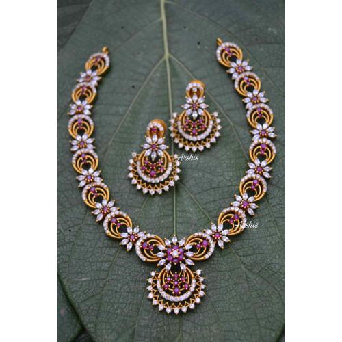 Sparkling Designer AD Stone Necklace