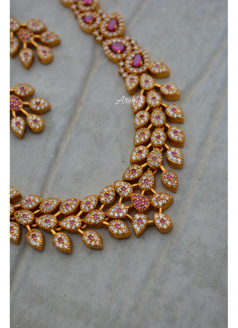 Trendy Diamond alike Necklace