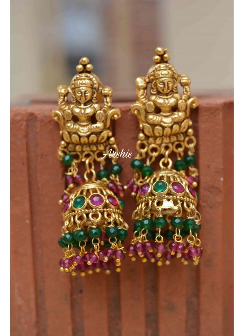 Adorable Temple Lakshmi Nagas Necklace