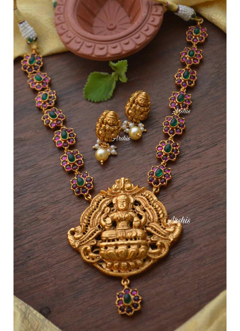 Traditional Lakshmi Nagas Pendant Necklace