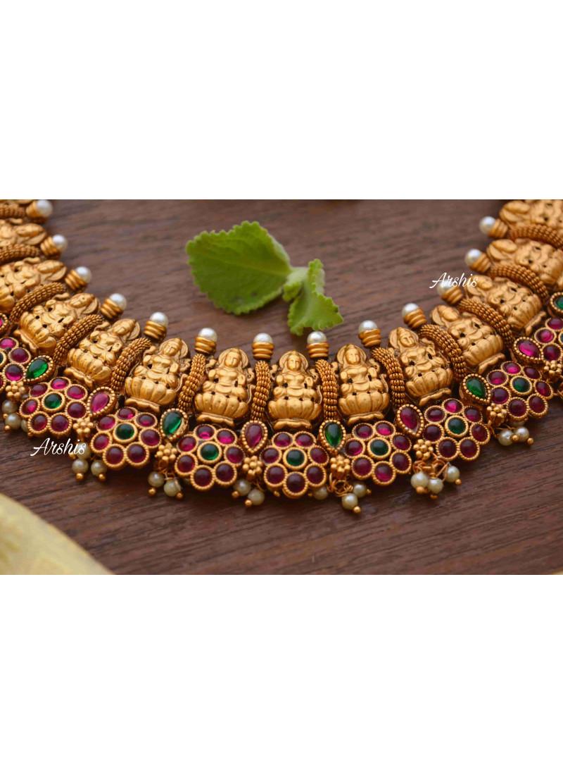 Arshis Temple Nagas Lakshmi Necklace