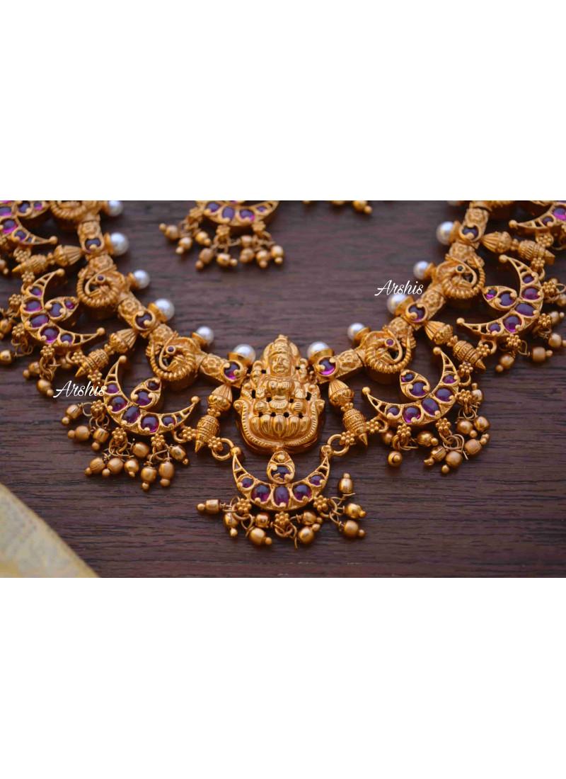Lakshmi Original Kemp Half Moon Necklace