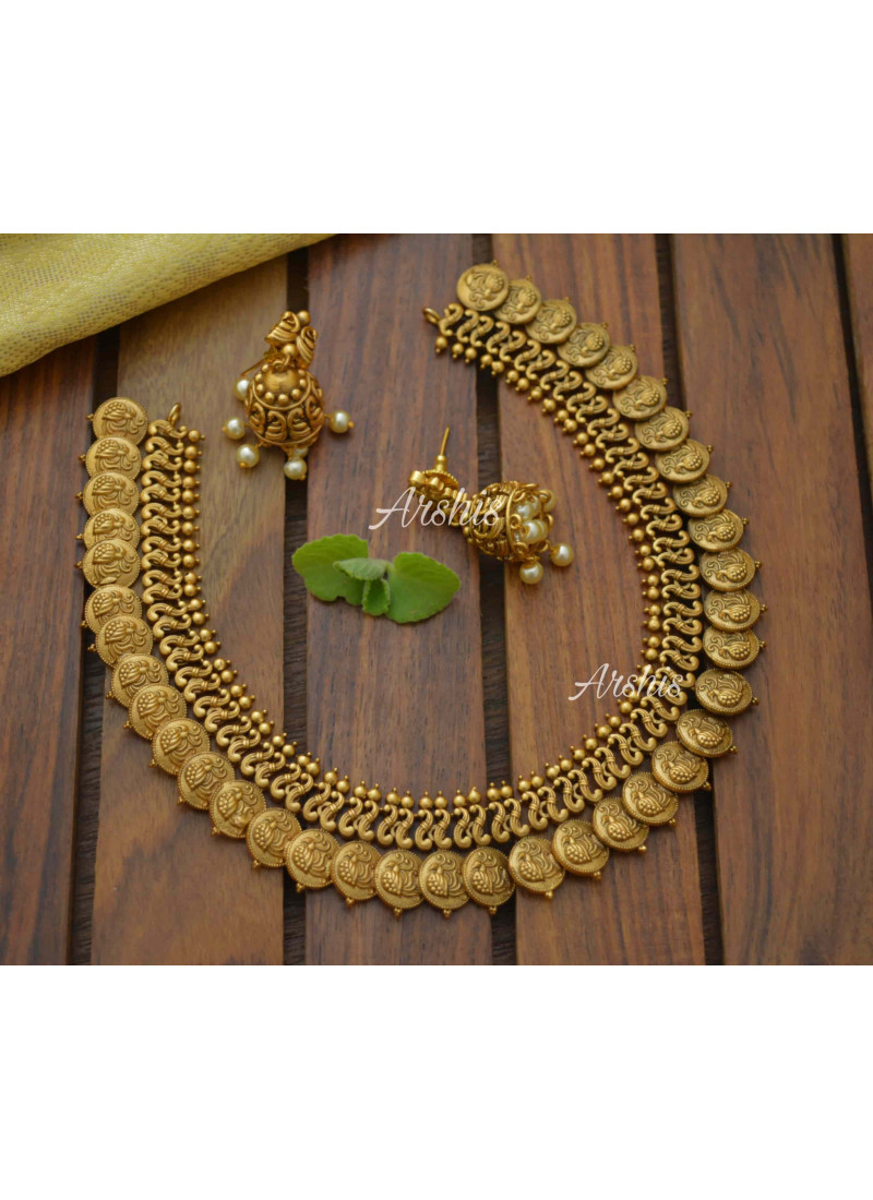 Traditional Antique Peacock Coin Necklace