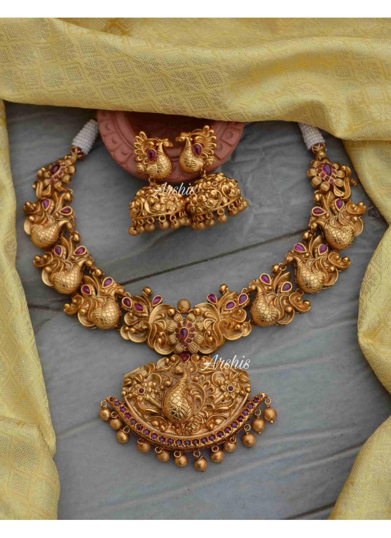 Unique Designer Peacock Bridal Necklace