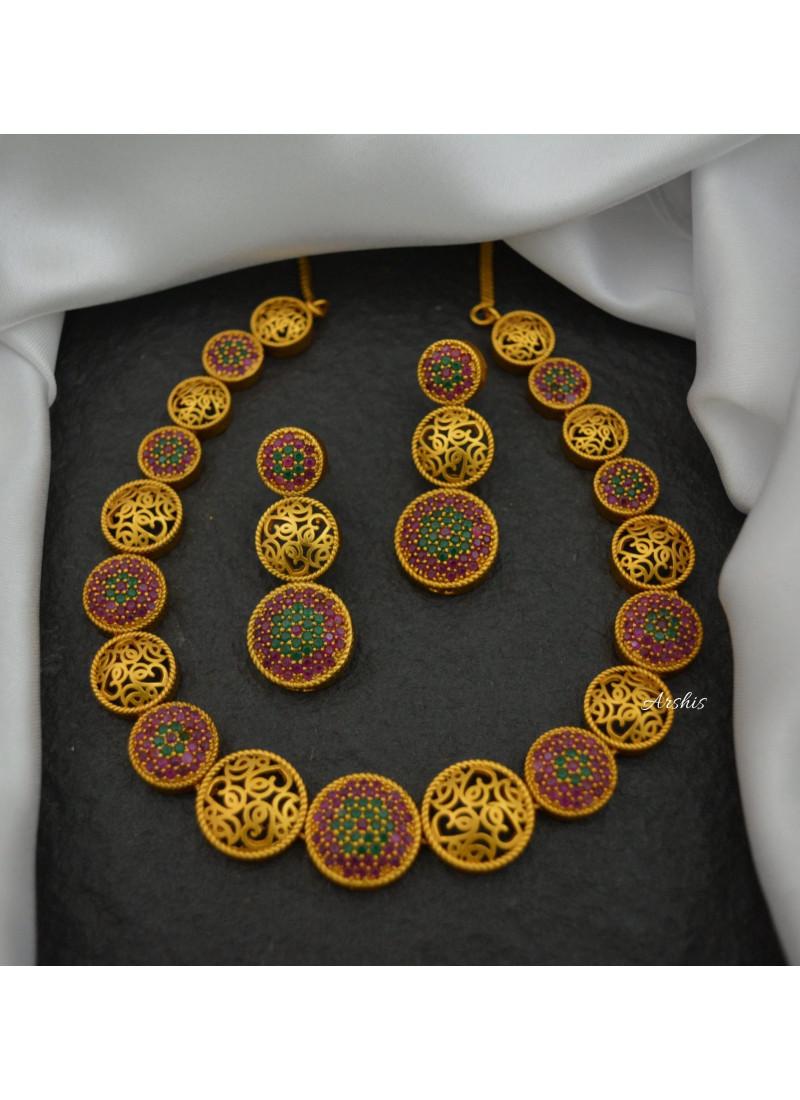 Trendy Designer Matte Finish Necklace