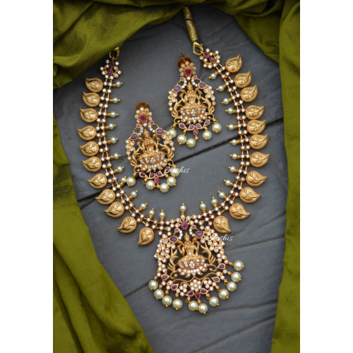Beautiful Mango and Lakshmi Design Necklace