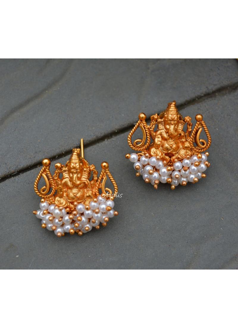 Matte Ganesha Navarathna Necklace