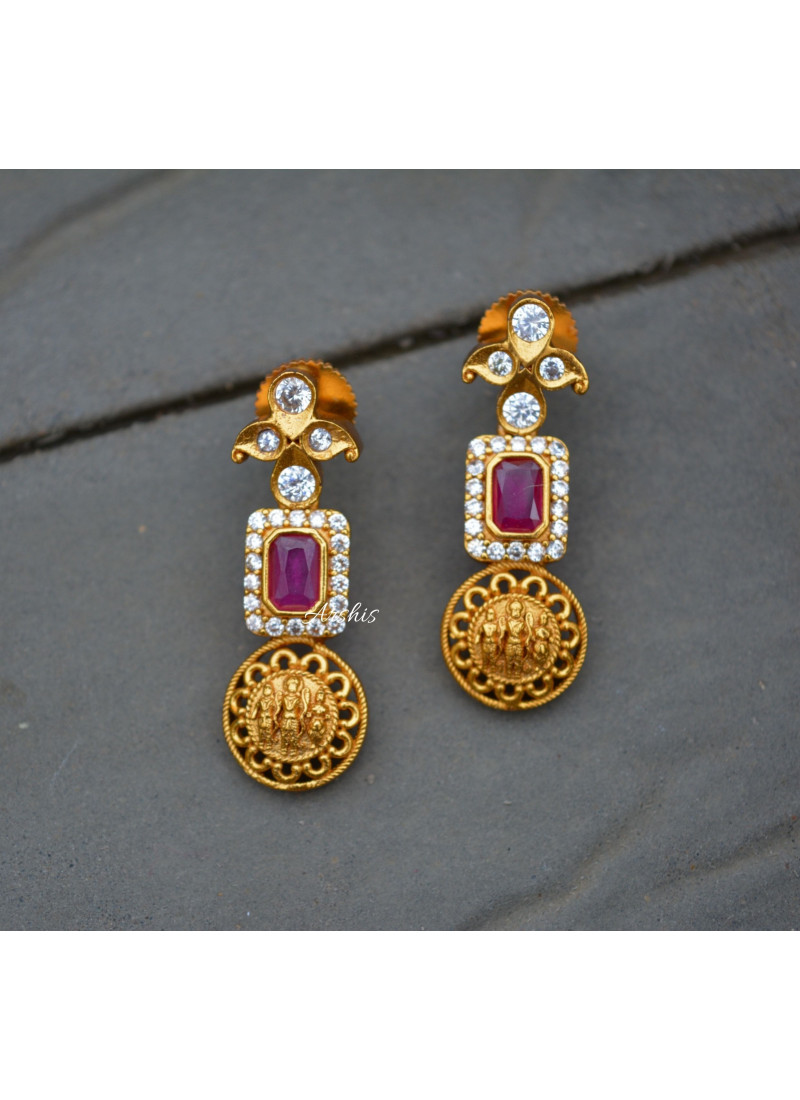 Matte Red Kemp Ramparivar Necklace