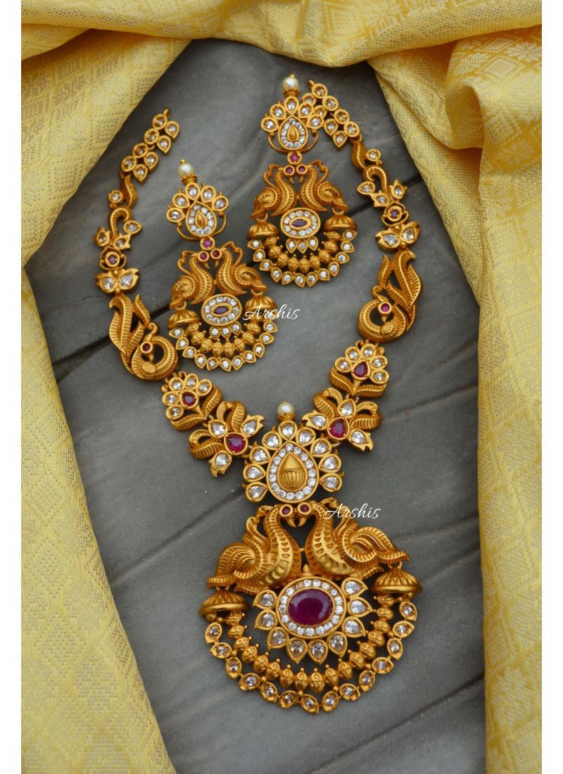 Beautiful Matte Double Peacock Necklace