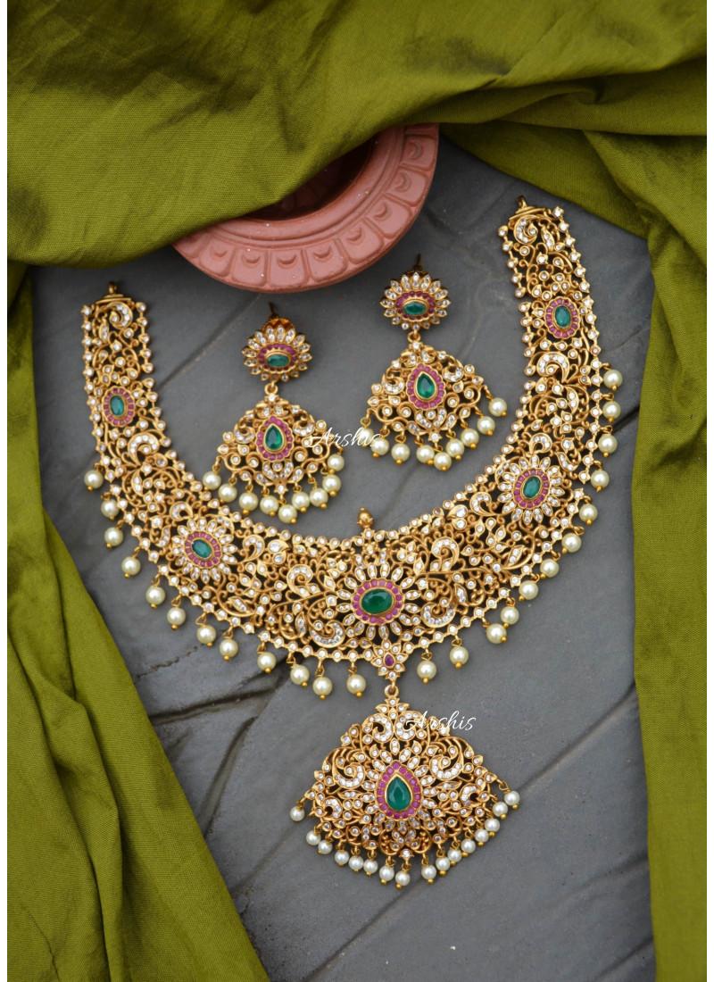 Grand AD Matte White Pearl Necklace