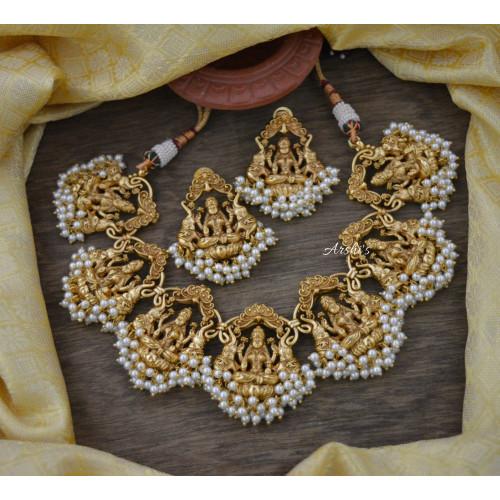 Traditional Antique Temple Lakshmi Necklace