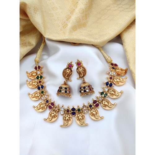 Traditional Ganesha Mango Necklace