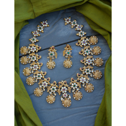 Matte AD Ramparivar Necklace with Earrings