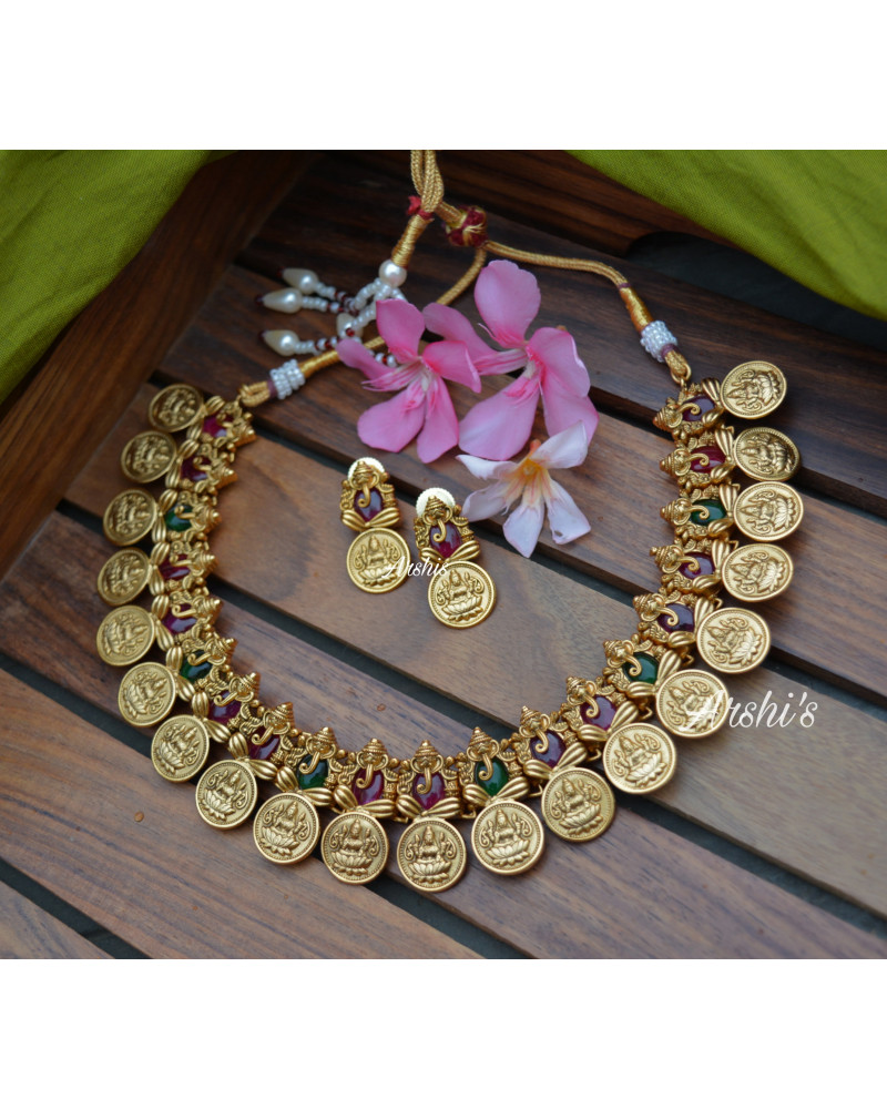 Elegant Traditional Ganesh Coin Necklace