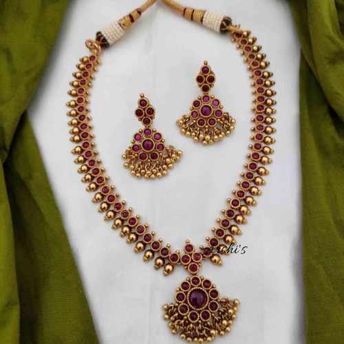 Real Kemp Gold Beaded Necklace