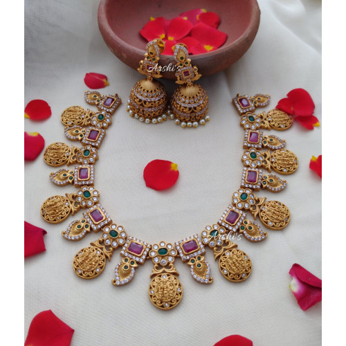 Traditional Mango and Ramparivar Necklace