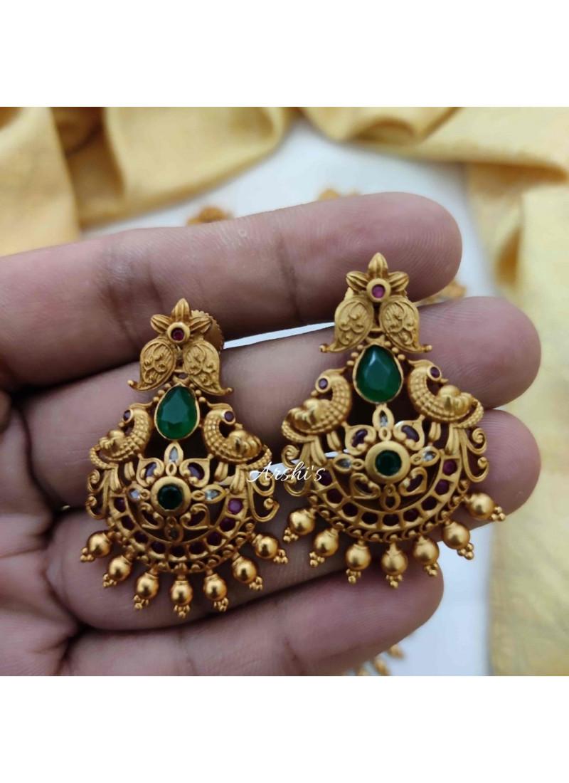 Dazzling Matte Peacock Design Necklace