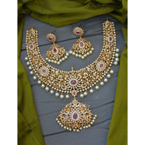 Grand and Beautiful AD Stone Necklace