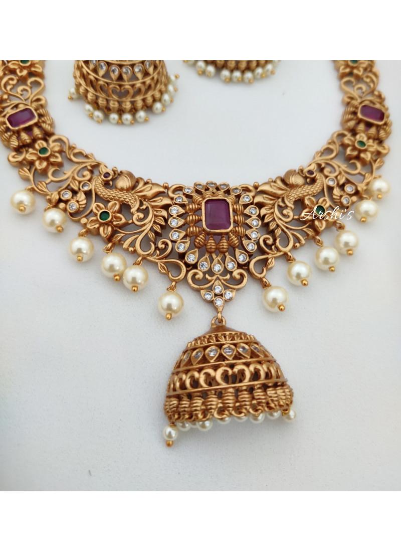 Designer Beautiful Peacock AD Necklace