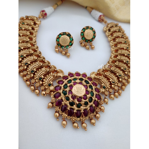 Grand Real Kemp Peacock Necklace