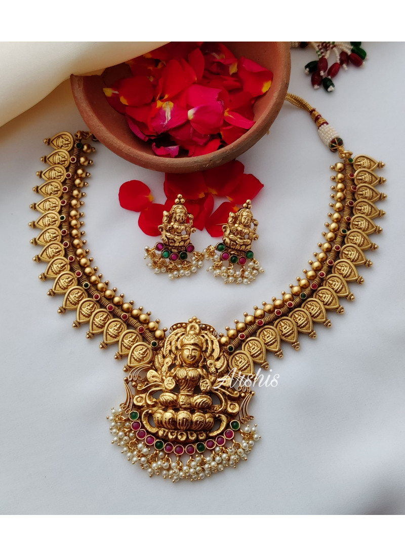 Antique Temple Lakshmi Necklace