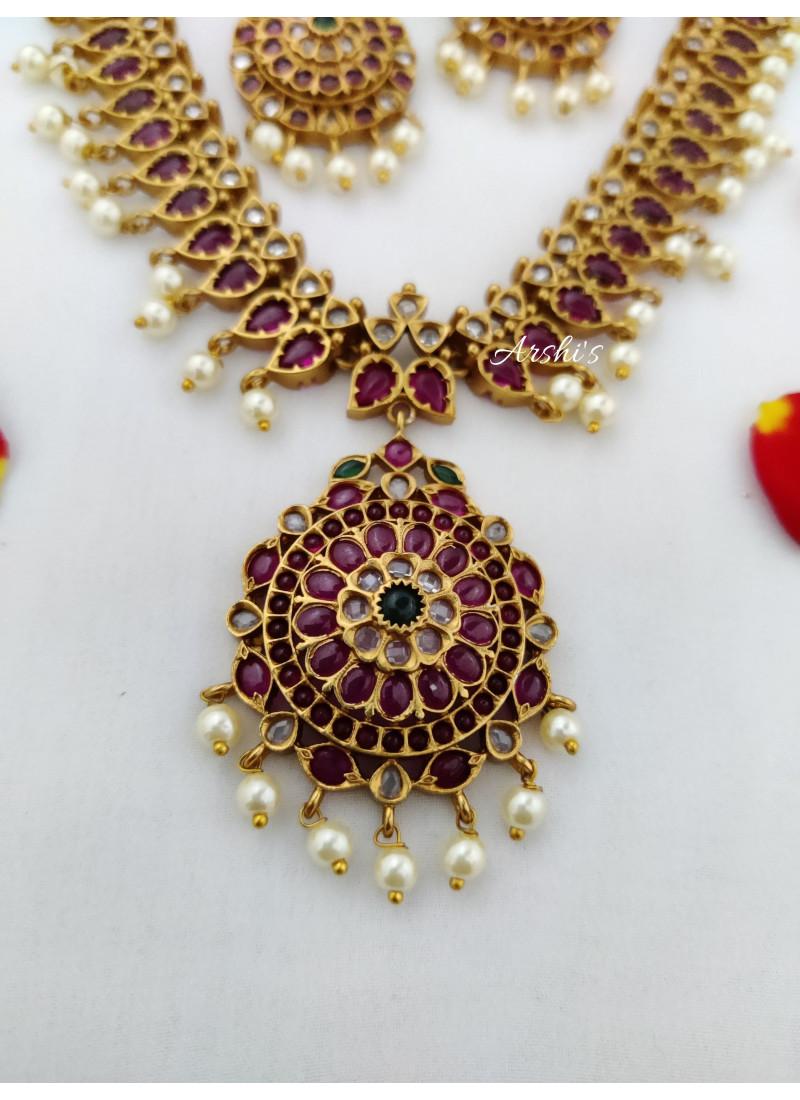 Dazzling Real Kemp Bridal Necklace
