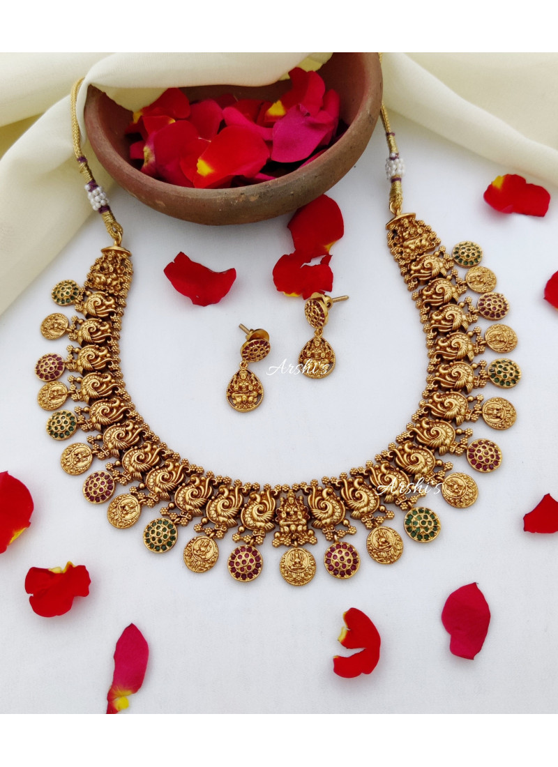 Grand Traditional Temple Coin Necklace