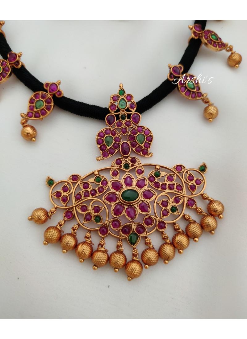 Elegant Real Kemp Thread  Necklace