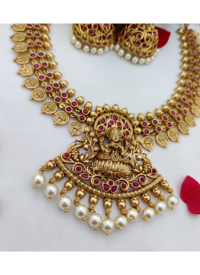 Full Ruby Antique Temple Necklace