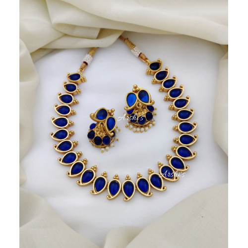 Beautiful Royal Blue Trendy Necklace