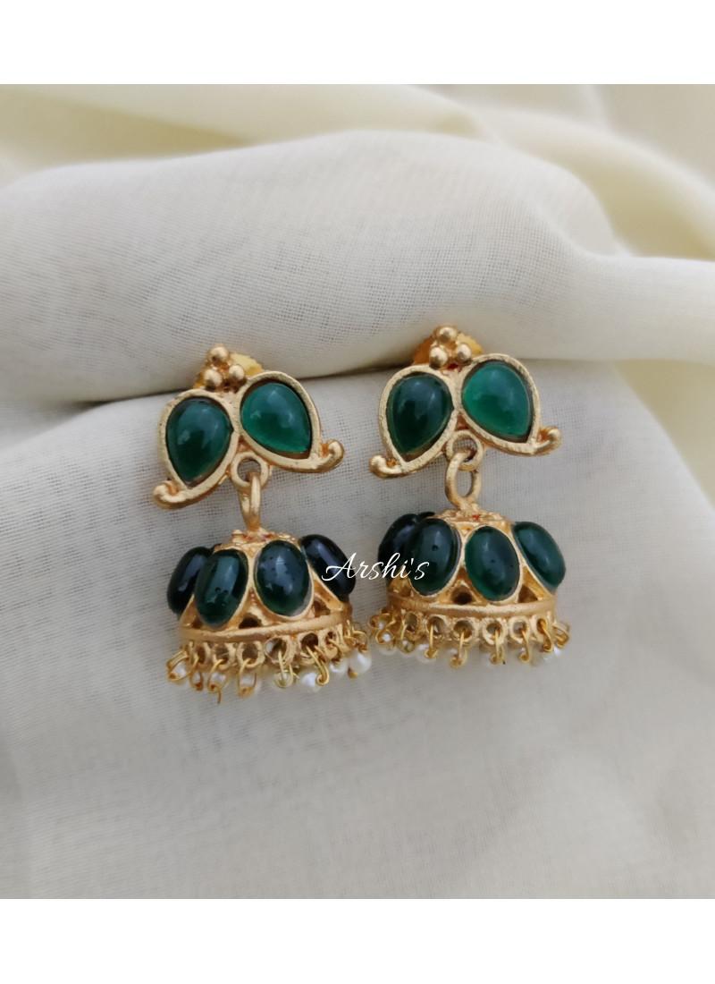 Green Kemp  Stone Trendy Necklace