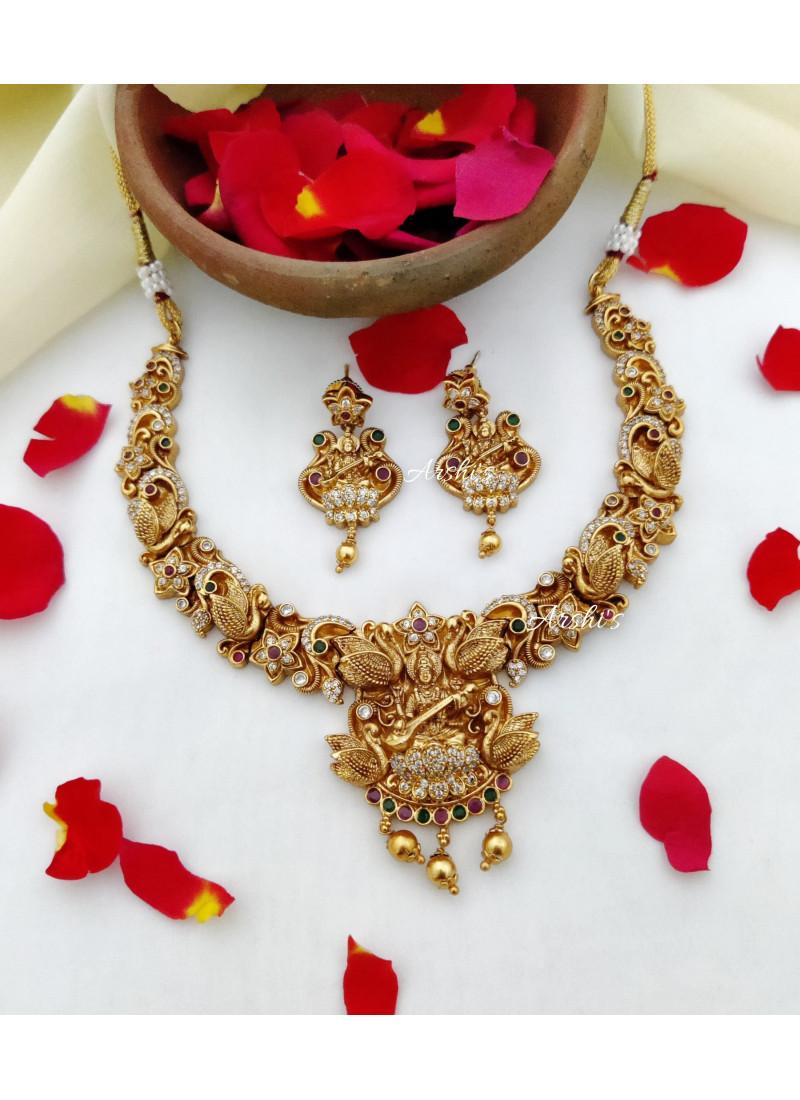 Traditional Imitation Lakshmi Necklace