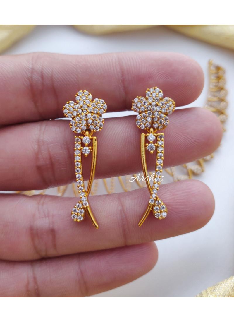 Classic Diamond Alike AD Stone Necklace
