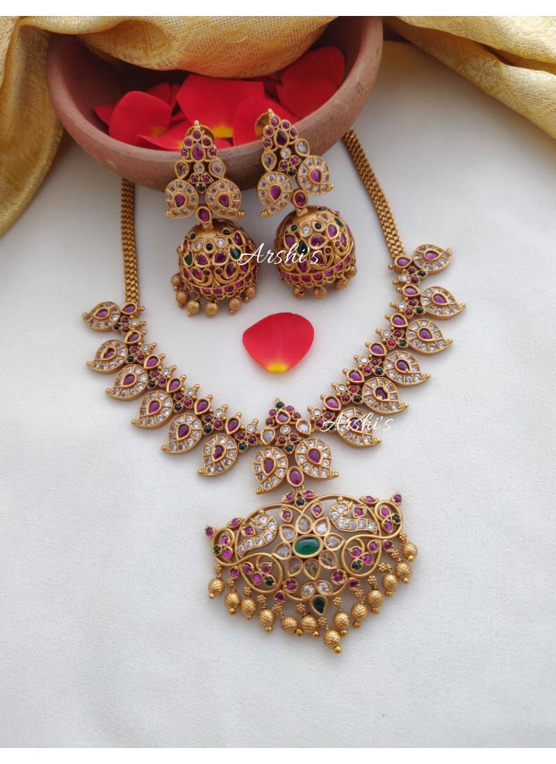 Trendy Real Kemp Mango Design Necklace