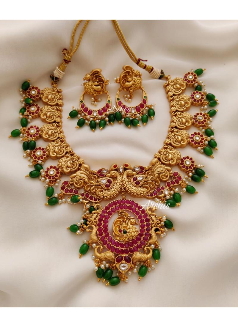 Bridal Dual Peacock Kemp Emerald Be..