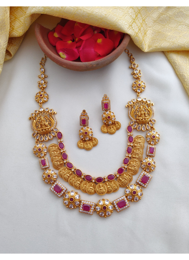 Two Layered Temple Lakshmi Necklace