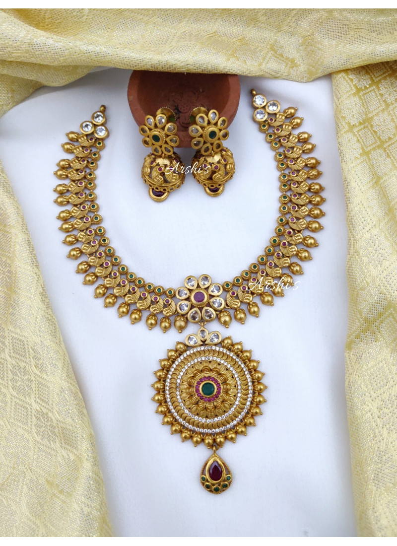Peacock Design Traditional Necklace