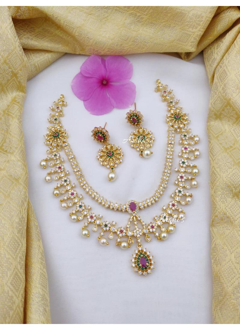 Imitation Diamond Alike AD Necklace