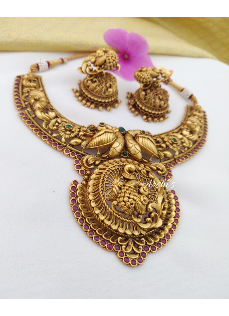 Traditional Peacock Bridal Necklace