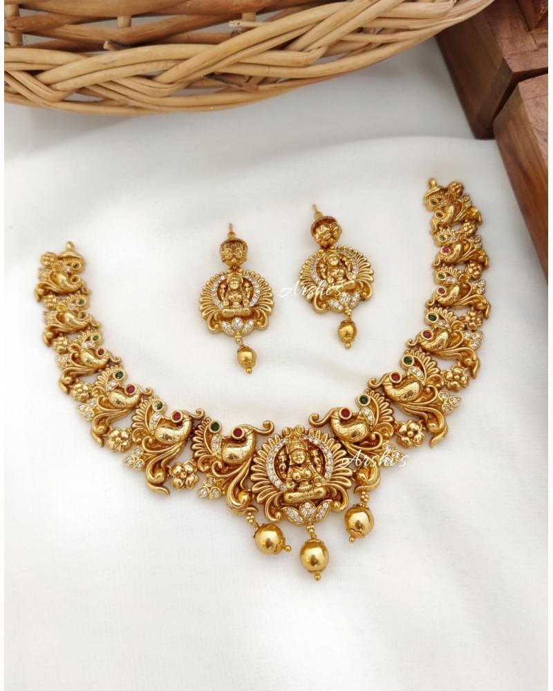 Imitation Lakshmi Peacock Necklace