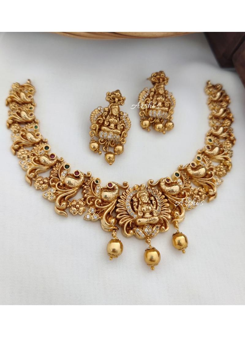 Classic Lakshmi Peacock Necklace