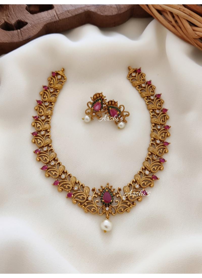 Simple and Elegant Mango Necklace